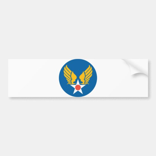 Army Air Corps Shield Bumper Sticker