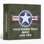Army Air Corps Vintage Binder