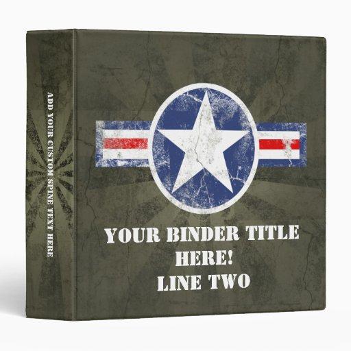 Army Air Corps Vintage 3 Ring Binder