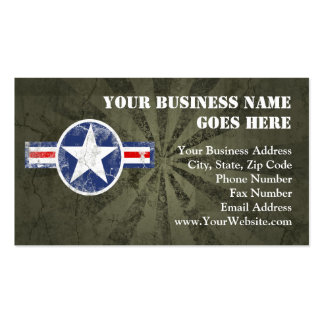 Army Air Corps Vintage Business Card Templates