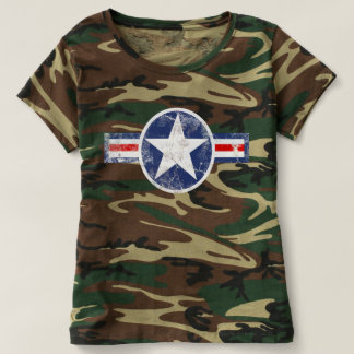 Army Air Corps Vintage Camo Shirt