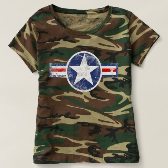 Army Air Corps Vintage Camo T-shirt