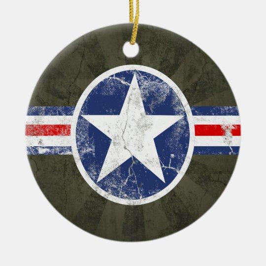 Army Air Corps Vintage Ceramic Ornament