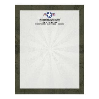 Army Air Corps Vintage Letterhead