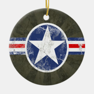 Army Air Corps Vintage Christmas Ornaments