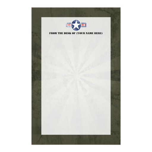 Army Air Corps Vintage Personalized Stationery