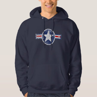 Army Air Corps Vintage Star Patriotic Hoodie