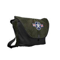 Army Air Corps Vintage Star Patriotic Messenger Bag