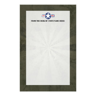 Army Air Corps Vintage Stationery