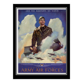 Army Air Force Recruitment Vintage Poster