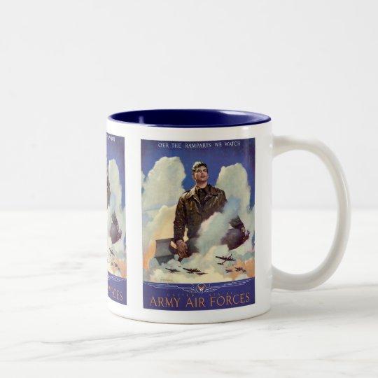 Army Air Forces Two-Tone Coffee Mug