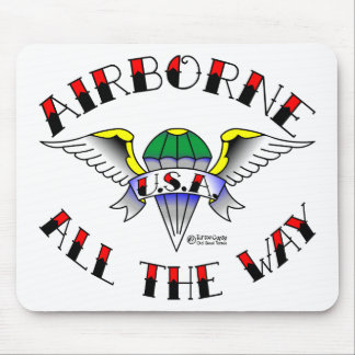 Army Airborne Old Skool Tattoo Mouse Pads