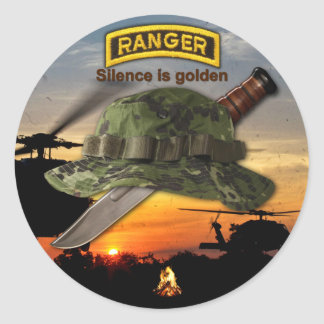 Army Airborne Ranger LRRP Recon LRRPS Classic Round Sticker