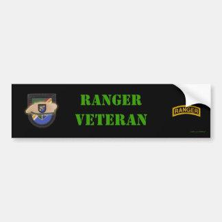 army airborne ranger son vets 75th bumper sticker car bumper sticker