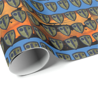Army airborne rangers fort benning patch wrapping paper