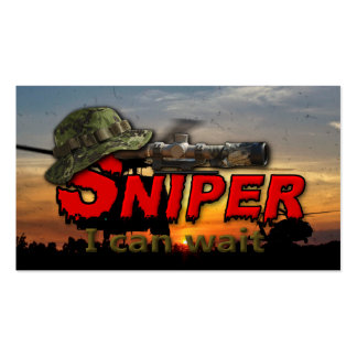 Army airborne rangers LRRP Snipers veterans vets Business Card