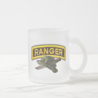 Army airborne rangers LRRPS recon LRS Frosted Glass Coffee Mug
