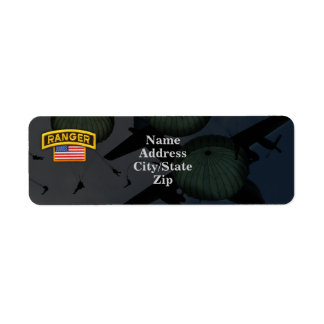 army airborne rangers nam return address Labels