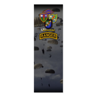 Army airborne rangers veteran patch bookmarkers business card template