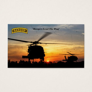 Army airborne rangers veterans vets business card