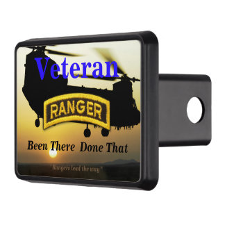 Army Airborne Rangers veterans vets Hitch Cover