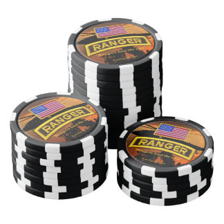 army airborne rangers veterans vets set of poker chips