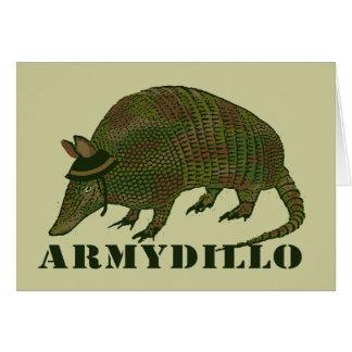 Army Armadillo Item Greeting Card