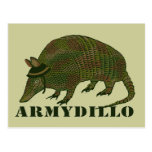 Army Armadillo Item Postcard at Zazzle
