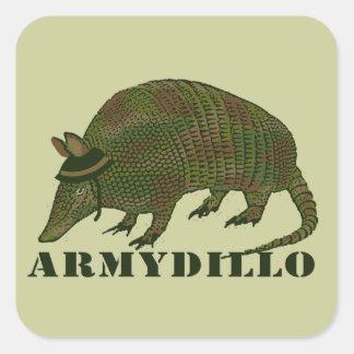 Army Armadillo Item Square Sticker