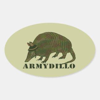 Army Armadillo Item Oval Sticker