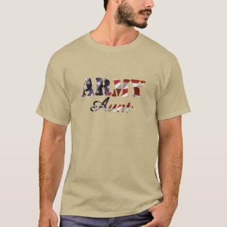 Army Aunt American Flag T-Shirt