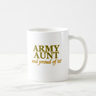 Army Aunt and Proud of It Coffee Mugs