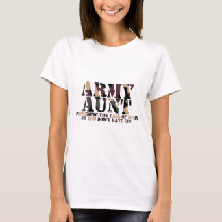 Army Aunt Answering Call T-Shirt