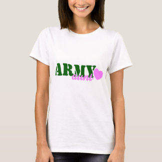 Army Aunt Green Heart T-Shirt