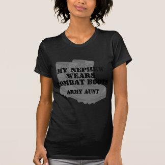 Army Aunt Nephew Combat Boots T-Shirt