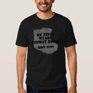Army Aunt Niece Combat Boots T Shirt