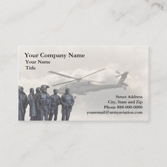 Army aviation business card zazzle army aviation business card colourmoves