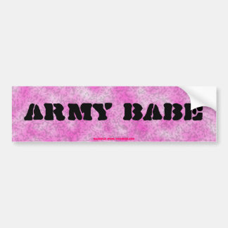 Army Babe-Pink Camouflage Bumper Sticker Car Bumper Sticker