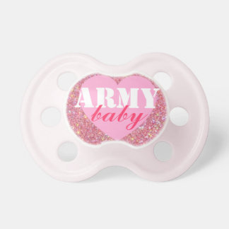 """""""Army baby"""" Girls Patriotic Military Pacifier BooginHead Pacifier"""