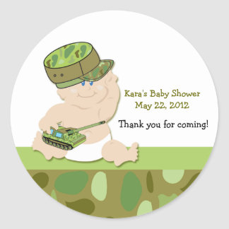 ARMY BABY MILITARY Baby Shower Favor Sticker