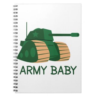 ARMY BABY SPIRAL NOTEBOOKS