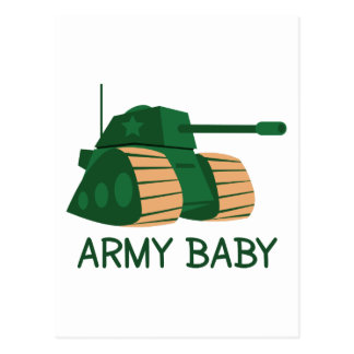 ARMY BABY POSTCARD