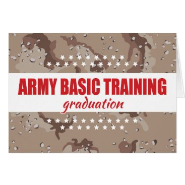 Army Basic Training Graduation Congratulations Card