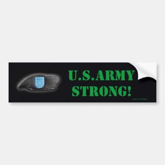army beret flash units bumper sticker car bumper sticker