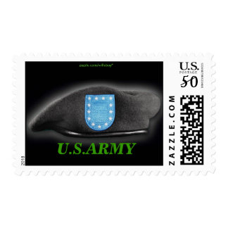 army beret flash veterans Postage stamps
