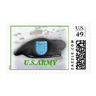 army beret flash vets war Postage stamps