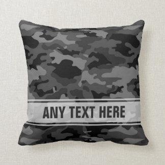 Army Black Camo Camouflage #3 Pillow Pillows