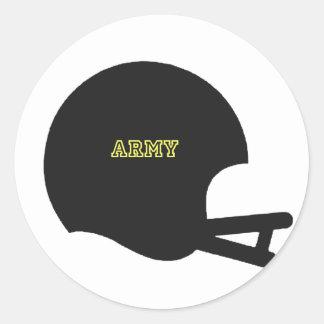 Army Black Knights Vintage Football Helmet Logo Classic Round Sticker