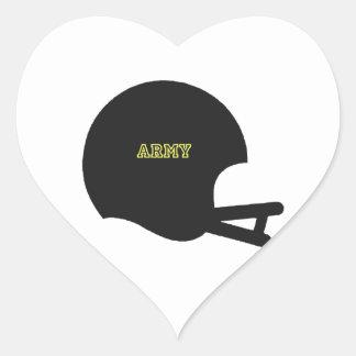 Army Black Knights Vintage Football Helmet Logo Heart Sticker