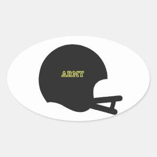 Army Black Knights Vintage Football Helmet Logo Oval Sticker